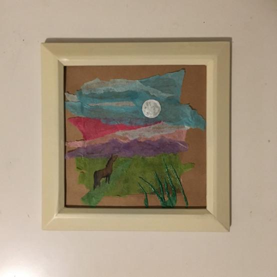 Tissue Paper & Acrylic Paint