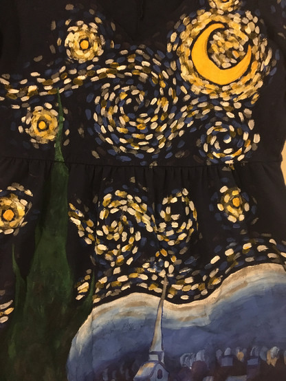 Close up of Starry Night Dress