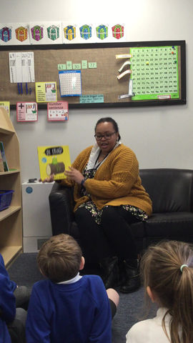 Story time again with Miss Bobb - Year 2