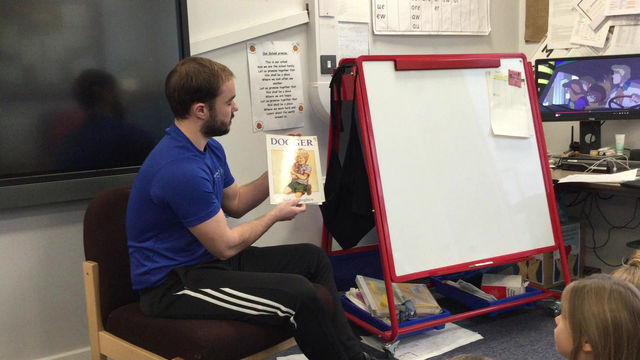 Story time with Mr Clarke