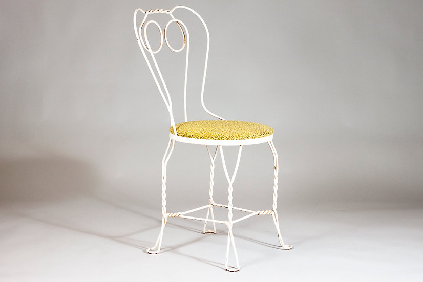 Finnish Art Deco Upholstered Wrought Iron Chair