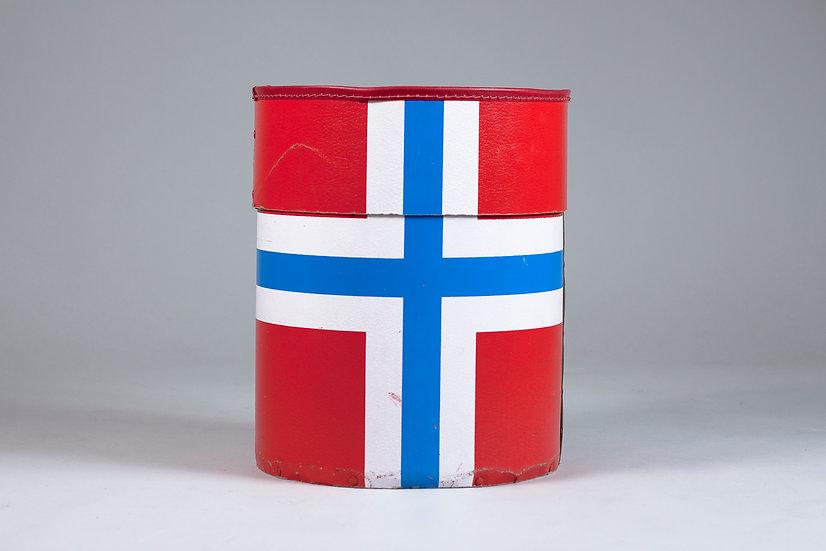 Norweigan Mid-Century Modern Cardboard Storage Basket