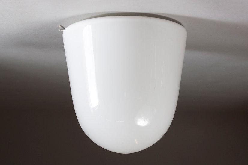 Paavo Tynell, Mid-Century Modern Opaline Glass Light for Idman Oy, Finland
