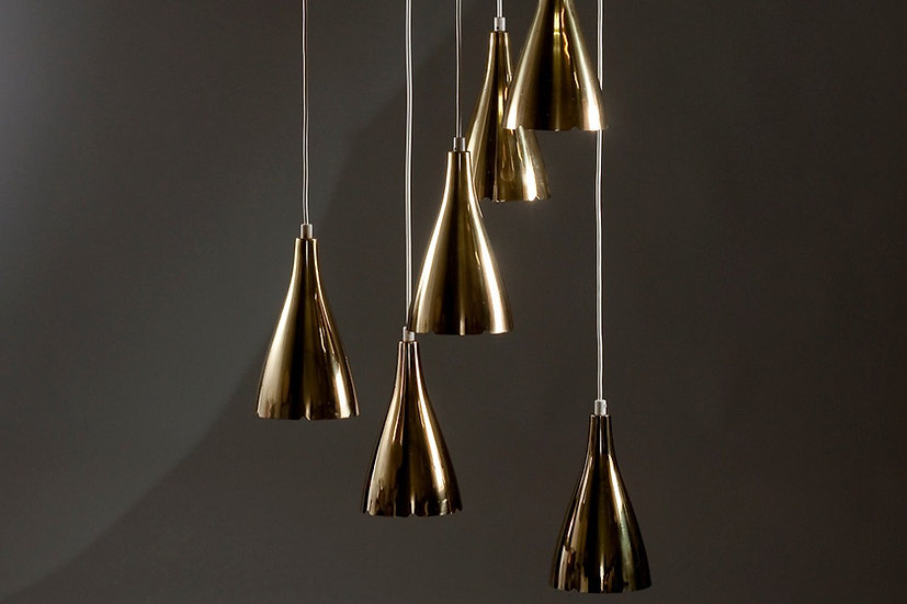 Paavo Tynell 1994/6 Brass Pendant for TAITO Oy 1950s