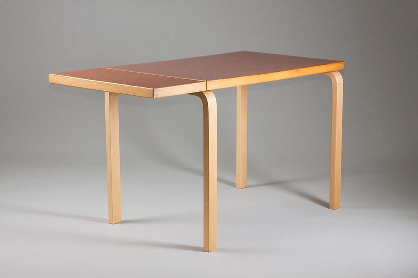 Alvar Aalto, Unique Rare Top Extendable Drop Leaf Dining Table, Artek