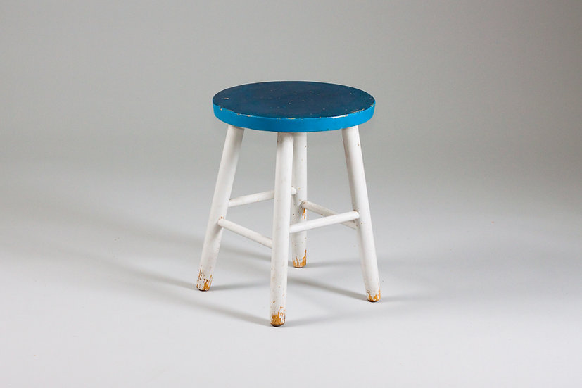 Finnish 1950s stool blue vintage retro design 1960s scandinavian nordic