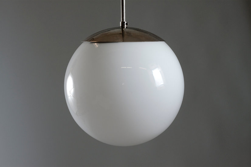 Finnish Mid-Century Modern Opaline Glass Sphere Light