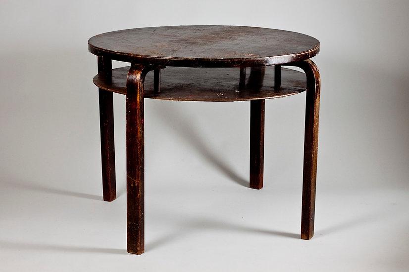 Alvar Aalto Round Table 72 With Shelf, Artek, Finland