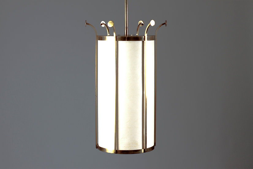 Stylish Scandinavian Mid-Century Modern Brass Ceiling Light
