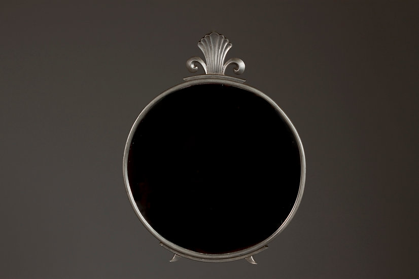 Taidetakomo Hakkarainen, 1930s Pewter Wall Mirror