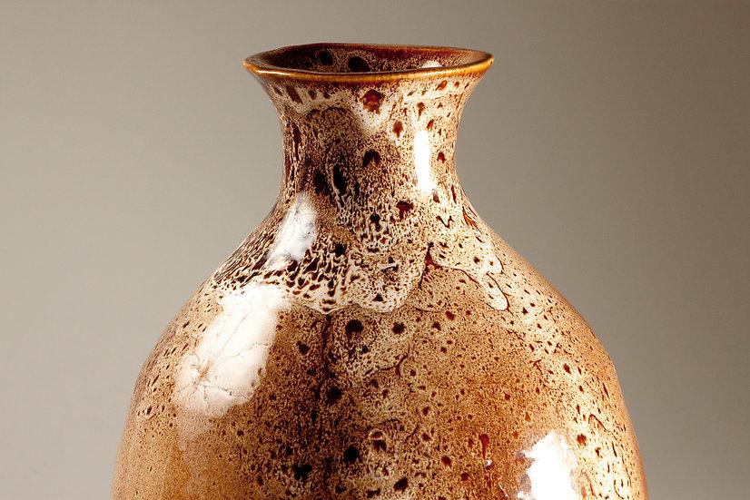 Large Finnish Late 20th Century Vase With Amazing Glaze