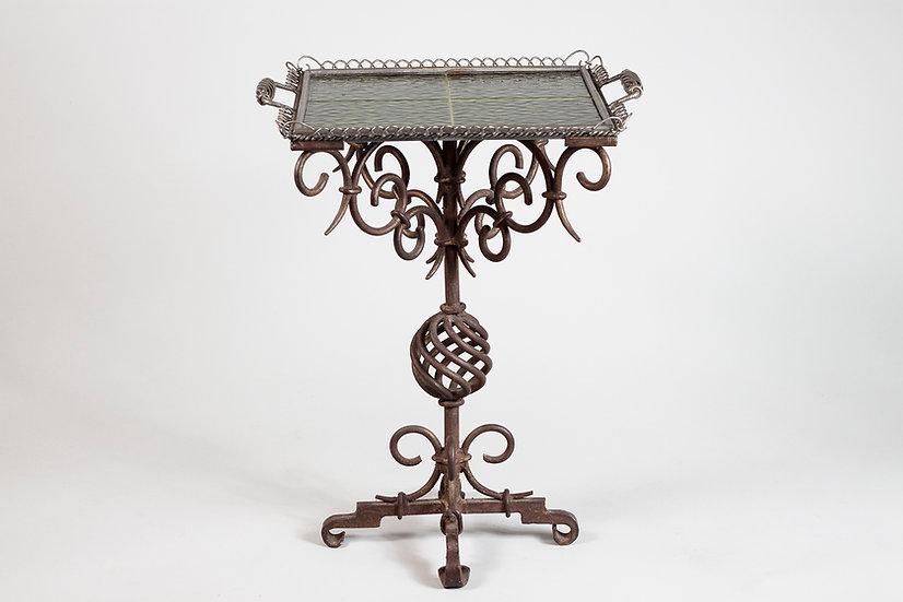 Taidetakomo Hakkarainen 1920/30s Wrought Iron Serving Table