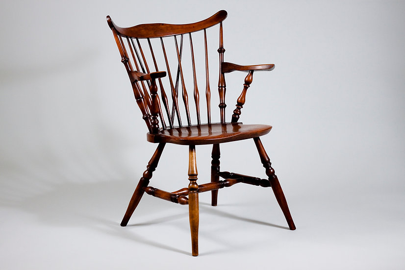 Nichols & Stone, Solid Oak Windsor Chair