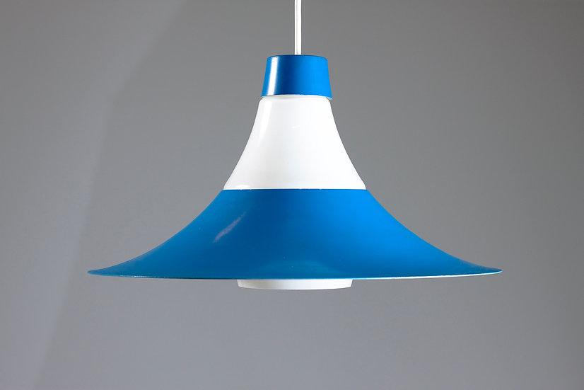 Blue Mid-Century Modern Pendant Light by ARIS, Finland