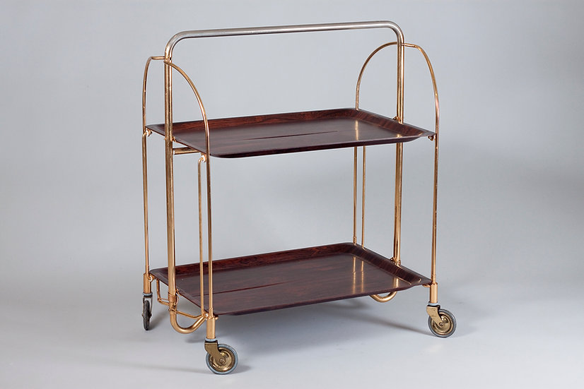 Gerlinol, Mid-Century Modern Foldable Bar Cart, Germany