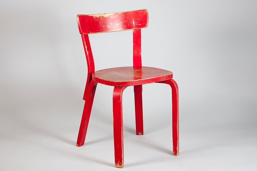 Early Overpainted Alvar Aalto Chair 69