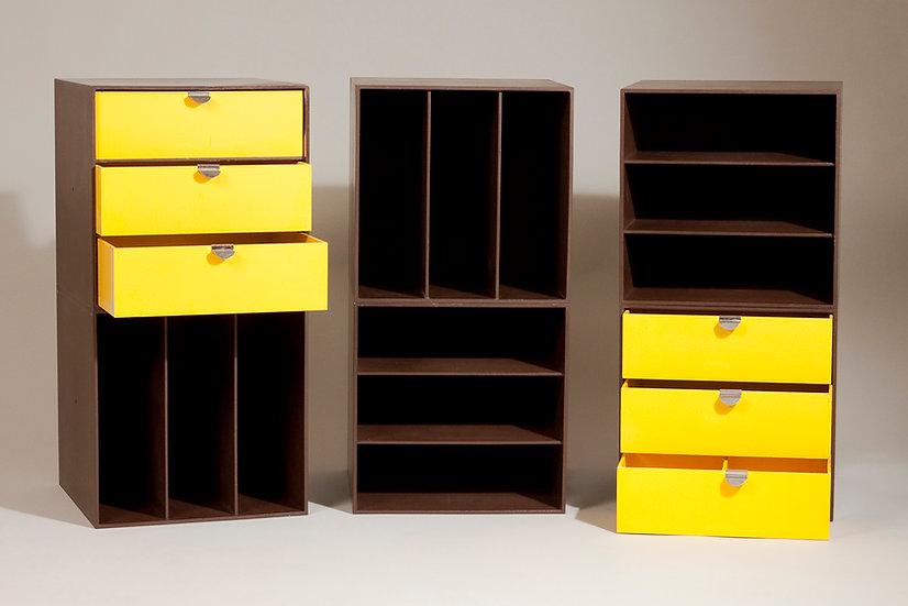 Finnish Modular Storage Cubes by Ristomatti Ratia, 1970s