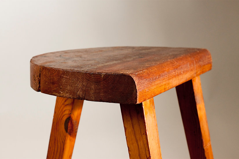 Finnish Nicely Patinated Mid-Century Loom Stool