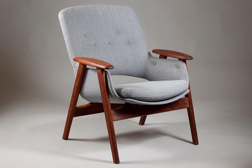 "Finnish 1950s Teak Armchair ""Domus"" Designed by Olof Ottelin"