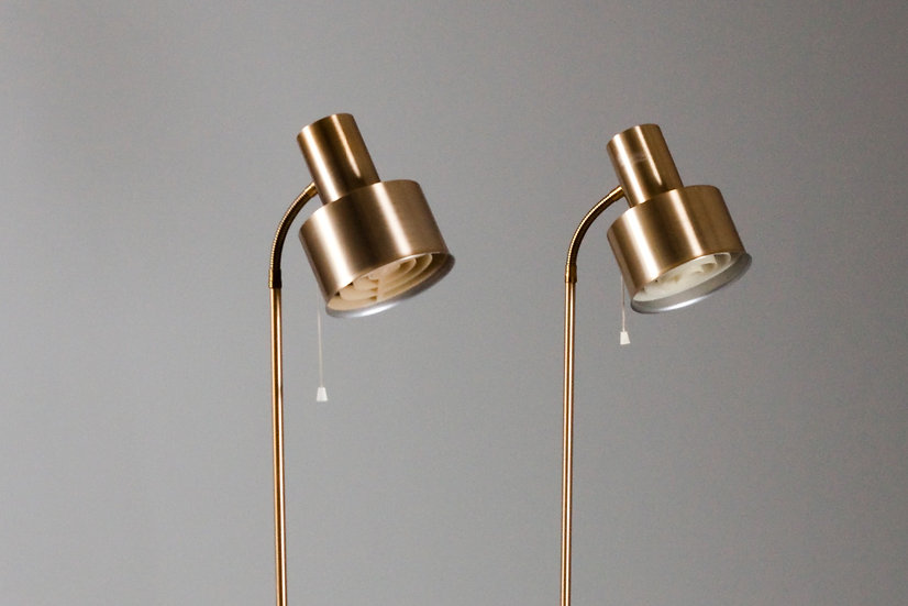 NAFA switzerland 1960s pair of floor lamps brass vintage retro design midcenturymodern modernist Nordisten