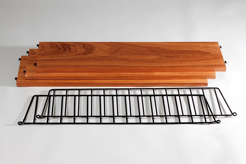 Mid-Century Modern String Wall Shelf by Nils Strinning, Sweden