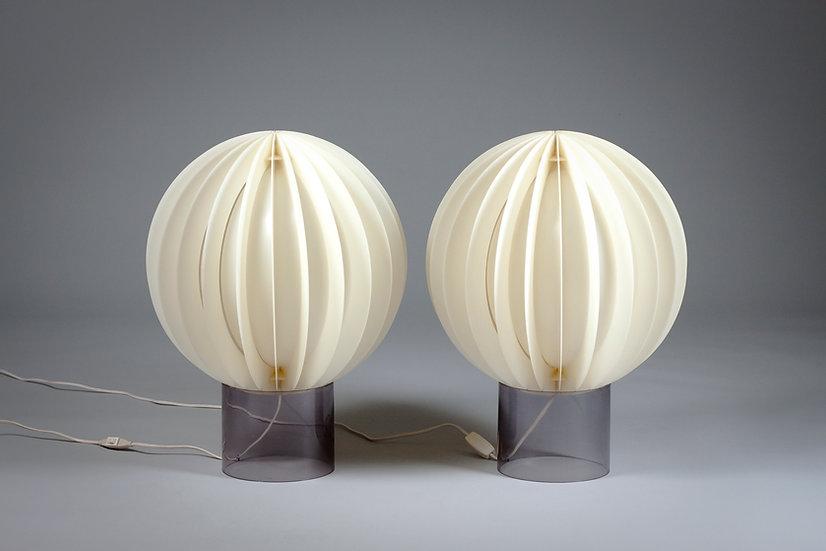 Pair of Large Bent Gantzel-Boysen Acrylic Desk Lamps, 1970s, IKEA
