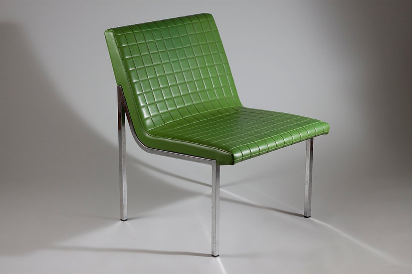 Green Vintage Chair, 1960s by Tehokaluste Oy, Finland