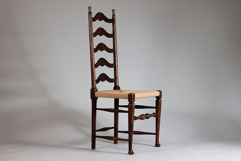 Werner West, Rare 1920/30s High Ladder Back Chair for Oy Stockmann Ab, Finland