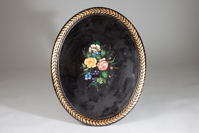 Art Deco Tray with Decorative Painting