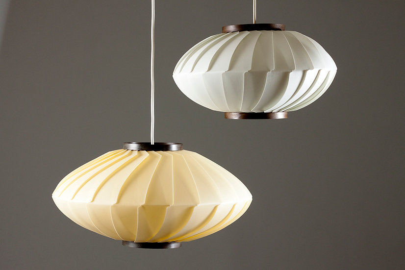 Pair of Mid-century Modern Finnish Pendant Lights, Valinte Oy