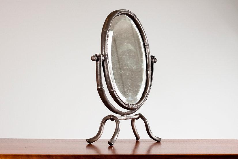 Art Deco Pewter Desk Mirror