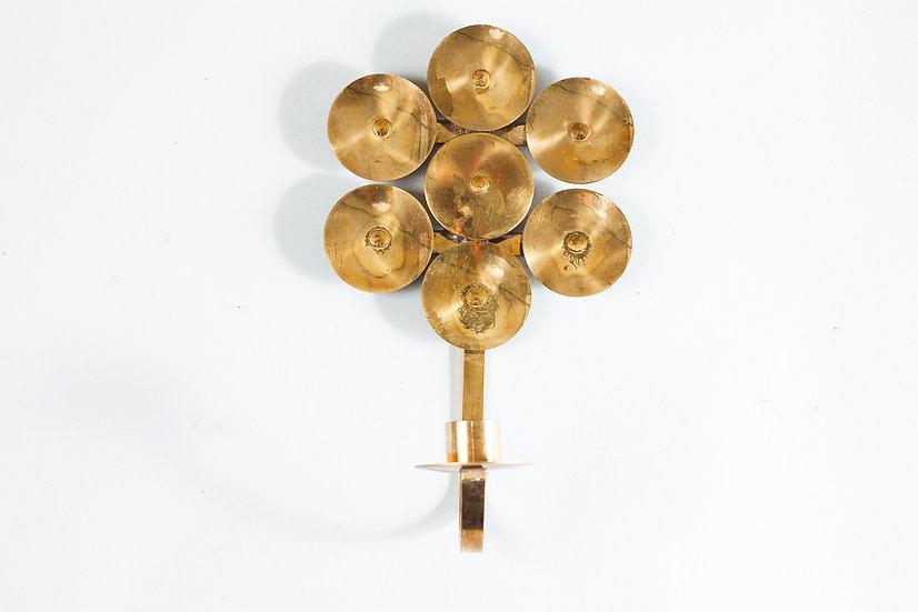 Beautiful Swedish Mid-Century Modern Brass Candle Lampette