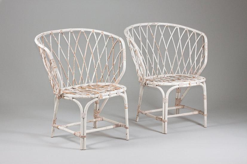 Pair of Maija Heikinheimo rattan chair Artek alvar aalto finnish design vintage scandinavian retro nordisten webshop midcentu