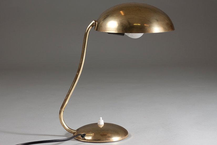 Finnish 1950s Brass Desk Lamp by Valinte