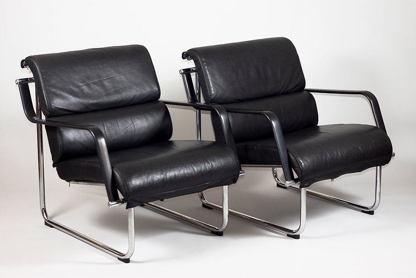 "Pair of 1960s ""Remmi"" Easy Chairs by Yrjö Kukkapuro for HAIMI/Avarte, Finland"