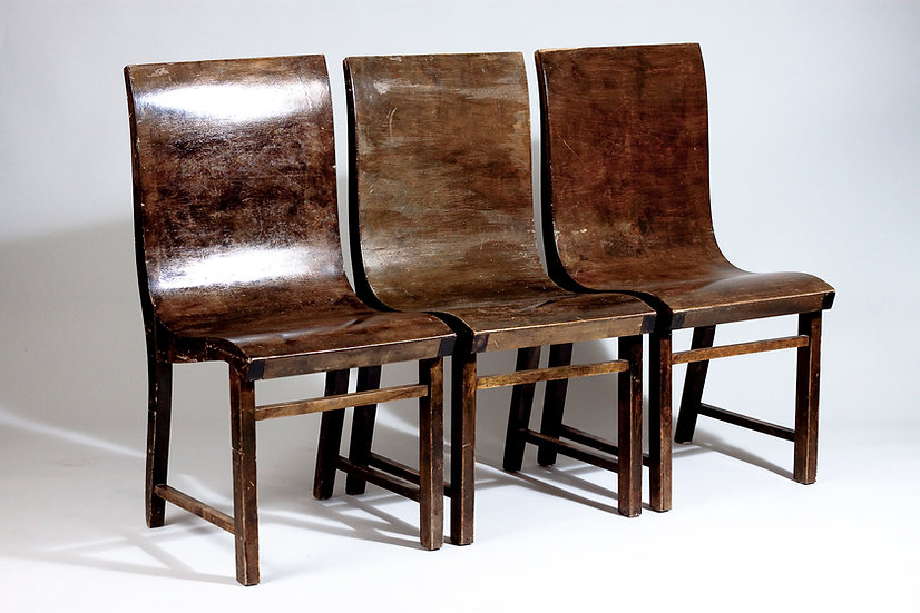 1930s Bent Plywood Chairs by Eever Toivonen