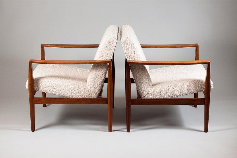 Pair of Elegant 1960s Scandinavian Modern Teak Arm Chairs