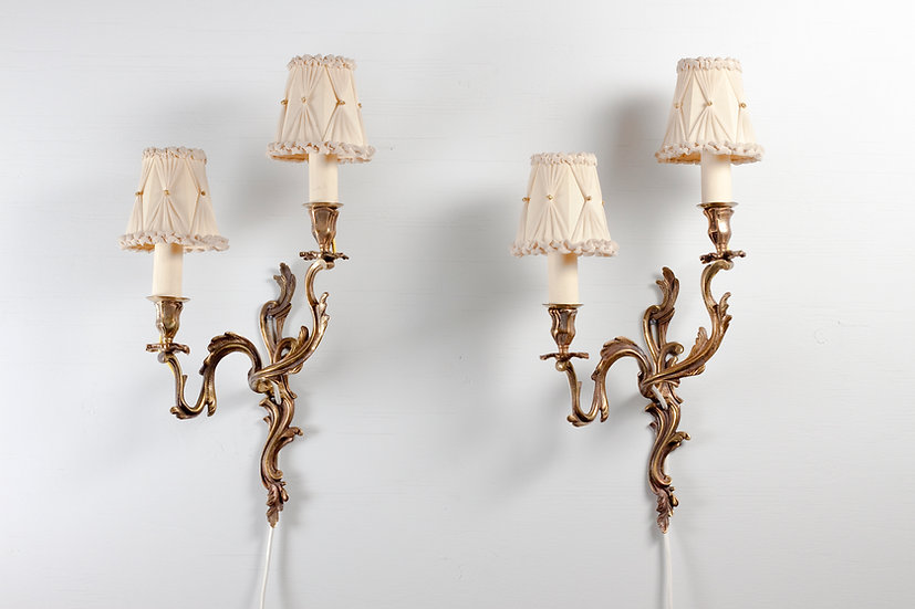 Pair of Large Idman Oy Brass Wall Sconces