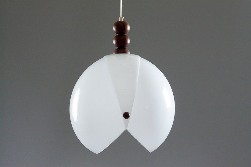 1960/70s Teak and Acrylic Pendant lamp