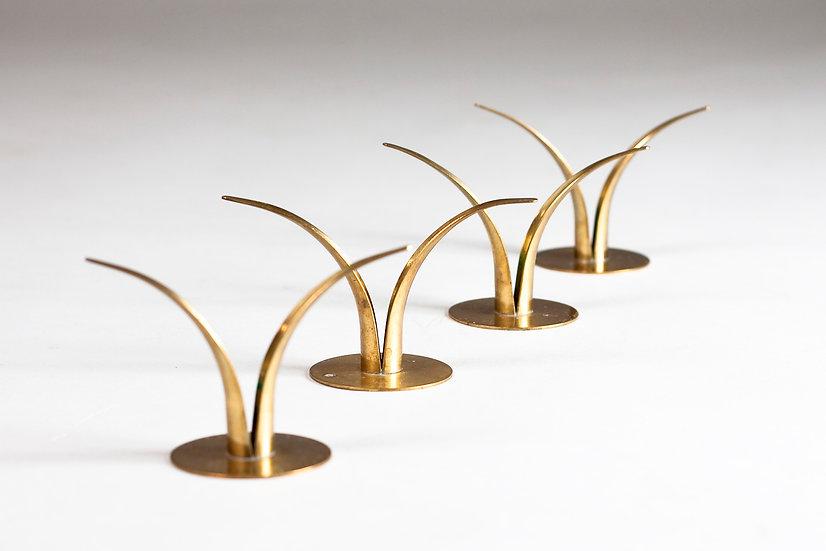 Set of Four Liljan Candle Holders by Ivar Ålenius-Björk for Ystad Metall, Sweden