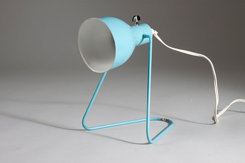 Turquoise Finnish 1960s Wall/Desk Lamp by ARIS