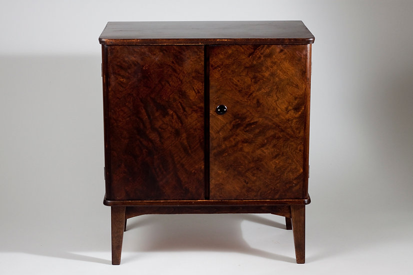 1940s Curly Birch Cabinet by ASKO, Finland