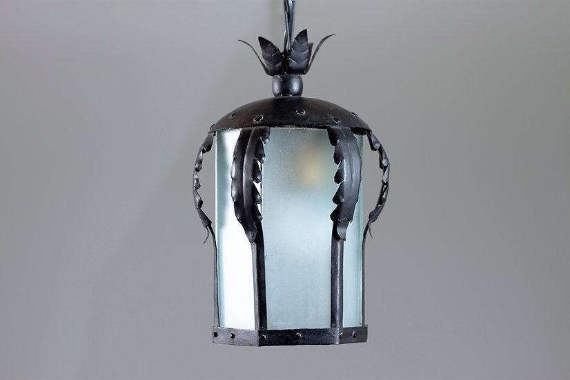 1920s Wrought Iron Pendant Lantern