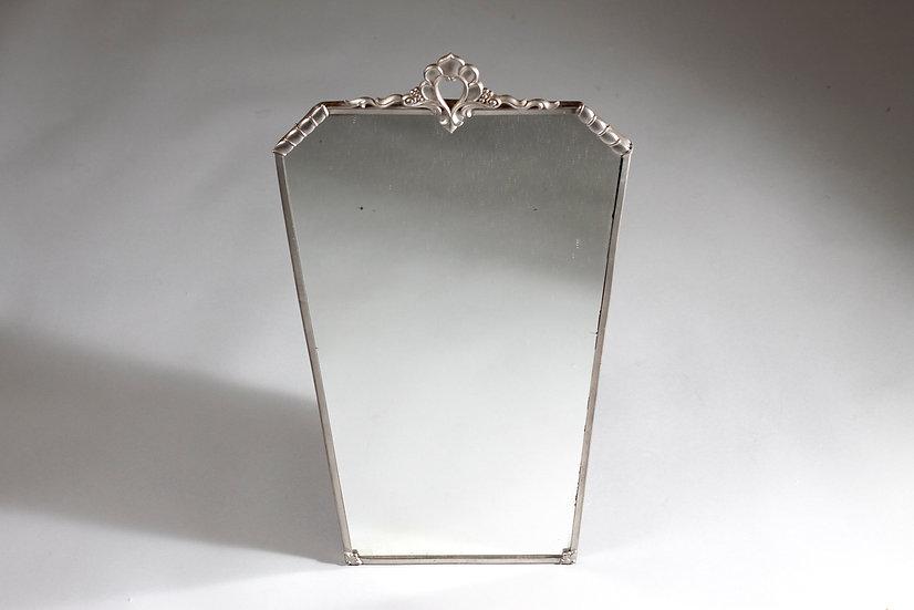 Art Deco Decorative Pewter Wall Mirror