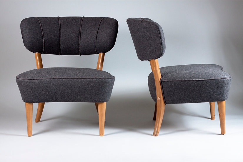 Pair of 1940s Lounge Chairs by Lisa Johansson-Pape, Stockmann, Finland