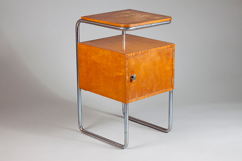 Early Finnish 20th Century Bedside Table by Pauli Blomstedt for Merivaara Oy