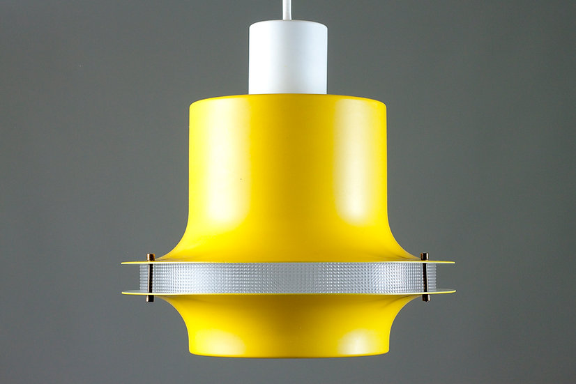 Mid-Century Yellow Pendant Lamp by Philips