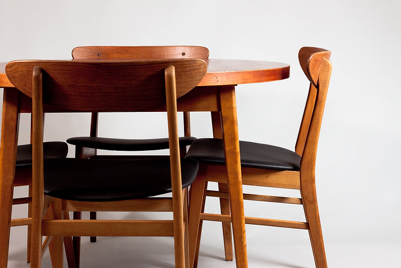 Danish Teak Dining set, Farstrup Chairs and Teak Extendable Table