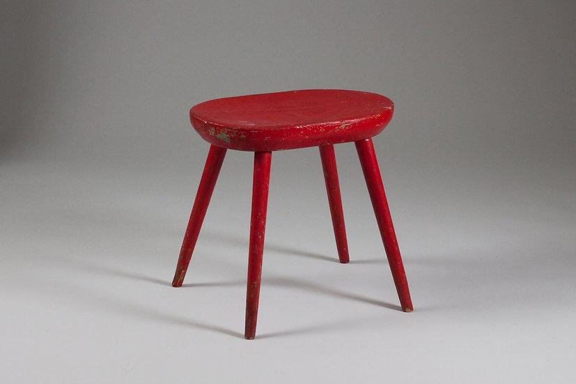 1940s stool design red vintage retro perfect beautiful finnish scandinavan nordic