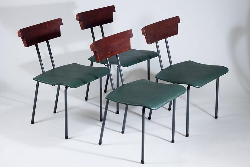 Finnish Mid-Century Modern Chairs, Wilhelm Schauman